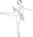 Silhouette of dancer Royalty Free Stock Photos