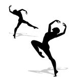 Silhouette of a dancer Royalty Free Stock Photo
