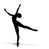 Silhouette of a dancer Royalty Free Stock Photography