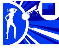 Silhouette dancing Stock Image