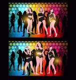 Silhouette dancing girl Royalty Free Stock Photos