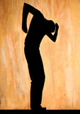 Silhouette dancing man Royalty Free Stock Photos