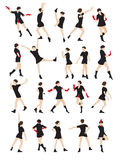 Silhouette of a Dancing Woman  Royalty Free Stock Photography