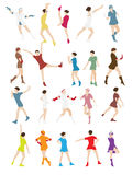 Silhouette of a Dancing Woman Vector Illustration Stock Photo