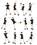 Silhouette of a Dancing Woman Vector Illustration Stock Image