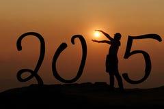 Silhouette de 2015 Image stock