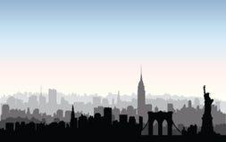 Silhouette de bâtiments de New York City Paysage urbain américain Ne Photos libres de droits