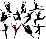 silhouette de ballet Photo stock