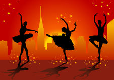 silhouette de ballet illustration de vecteur