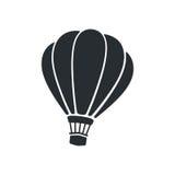 Silhouette de ballon à air chaud Photo stock
