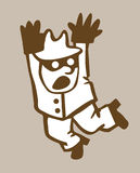Silhouette de bandit illustration libre de droits