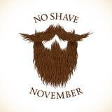 Silhouette de barbe sans la copie de lettrage de novembre de rasage illustration stock