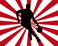 Silhouette de basket-ball illustration libre de droits