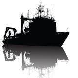 Silhouette de bateau Image libre de droits