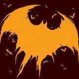Silhouette de battes - fond de Halloween Images stock