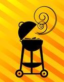 Silhouette de BBQ Image stock