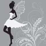 Silhouette de belle fée Image stock