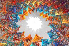 Silhouette de blanc d'étoile Fond de fractale Image libre de droits