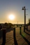 Silhouette de bord de mer Images libres de droits