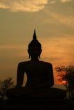 Silhouette de Bouddha Image stock