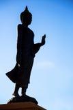 Silhouette de Bouddha Images stock
