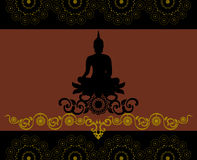 Silhouette de Bouddha thaïlandais Images libres de droits