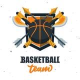 Silhouette de boule de basket-ball Sport Logo Template Ve de basket-ball Photos libres de droits