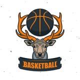 Silhouette de boule de basket-ball Sport Logo Template Ve de basket-ball Photos stock
