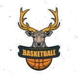 Silhouette de boule de basket-ball Sport Logo Template Ve de basket-ball Illustration Libre de Droits