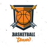 Silhouette de boule de basket-ball Sport Logo Template Ve de basket-ball Image stock