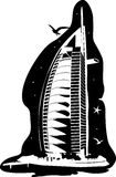 Silhouette de Burj Al Arab illustration de vecteur