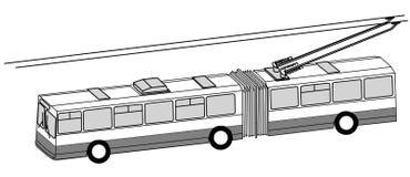 Silhouette de bus de chariot illustration de vecteur
