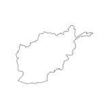 Silhouette de carte de l'Afghanistan Photo libre de droits