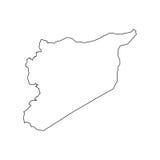 Silhouette de carte de la Syrie Photos libres de droits