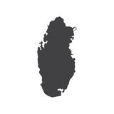 Silhouette de carte du Qatar Photos stock