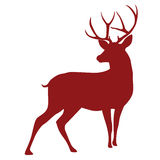 Silhouette de cerfs communs illustration stock