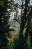 Silhouette de château de Prague Image stock