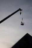 Silhouette de chantier de construction Photographie stock