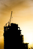 Silhouette de chantier de construction Image libre de droits
