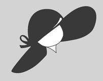 Silhouette de chapeau illustration de vecteur