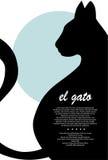 Silhouette de chat illustration stock