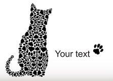Silhouette de chat des voies de chat Photo libre de droits
