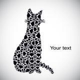 Silhouette de chat des voies de chat Image stock