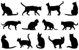 Silhouette de chat domestique illustration libre de droits