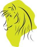 Silhouette de cheval Image stock