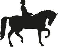 Silhouette de cheval de dressage illustration stock