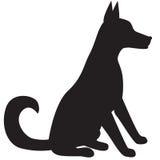 Silhouette de chien Images libres de droits