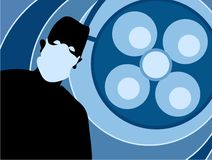 Silhouette de chirurgien Image libre de droits
