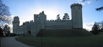 Silhouette de ciel de château de Warwaruk Images libres de droits