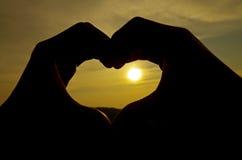 Silhouette de coeur photos libres de droits
